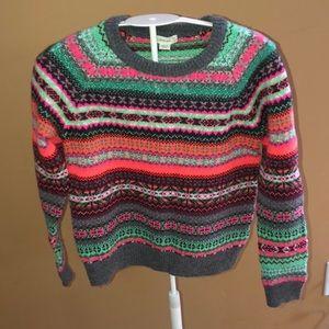 NWT Crewcuts Fair Isle Wool Sweater 8
